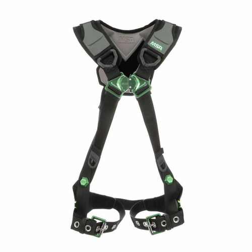 MSA V-FLEX Safety Harness with Tongue Buckle Leg Straps