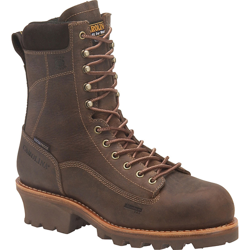 "Carolina Men's 8"" Waterproof Insulated Logger Boots - CA7021 & CA7521"