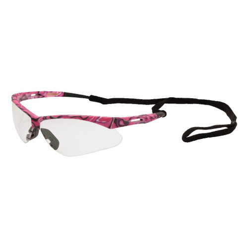 ERB Safety Annie Pink Camo Safety Glasses - Clear Lens