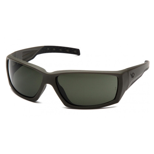 Venture Gear Overwatch OD Green Safety Glasses - Forest Gray Anti-Fog Lens