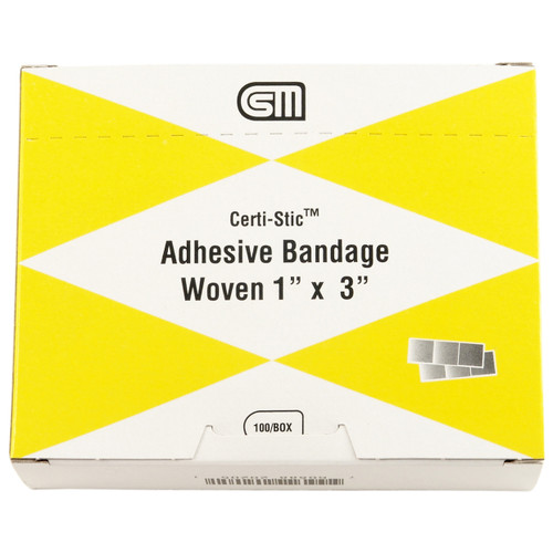 "Certi Strip Woven Bandages, 1""x3"", 100 pack"