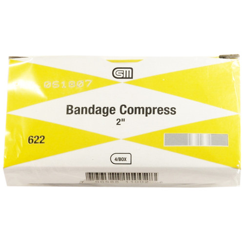"Bandage Compress, 2"", 4 pack"