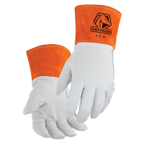 Black Stallion Premium Kidskin TIG DragPatch Welding Gloves - 25K