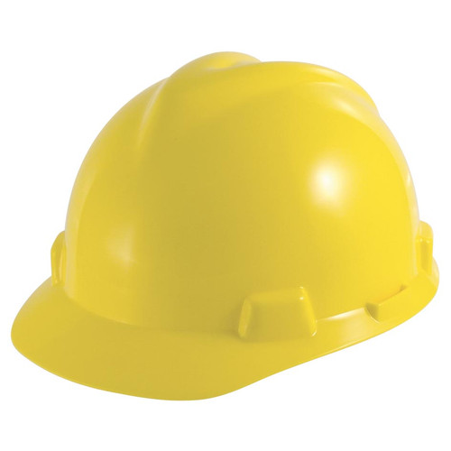 MSA V-Gard Slotted Cap Yellow Fas-Trac III Suspension - Small