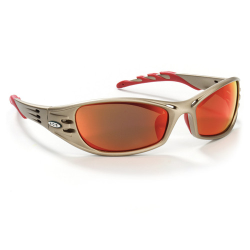 AOSafety Fuel Safety Glasses Metallic Sand Frame Red Mirror Lens
