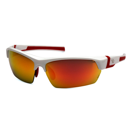 Venture Gear Tensaw White Safety Glasses - Red Mirror Polarized Lens