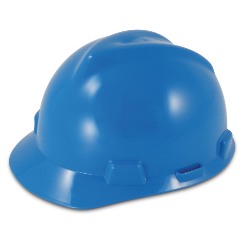MSA V-Gard Slotted Blue Cap Fas-Trac III Suspension - Small