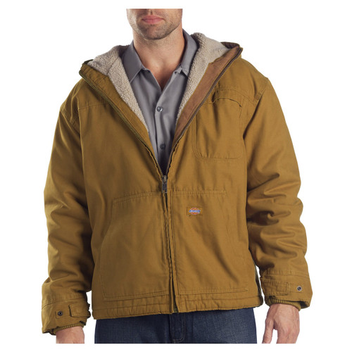 Dickies Men's Duck Sherpa Lined Hooded Jacket - TJ350
