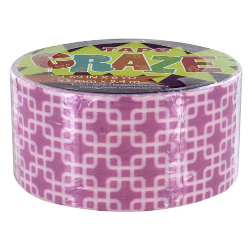 Tape Craze Purple/Pink Retro Square Craft Duct Tape - 1.69 in x 6 yd