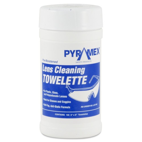 Pyramex Lens Cleaning Tissues - Canister of 100