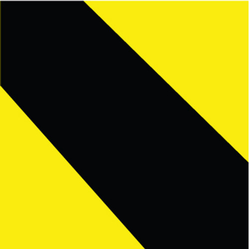 "Hazard Stripe Tape, Black & Yellow, 2"" x 36yds"