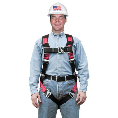MSA TechnaCurv Full Body Harness w/ Secure-Fit Chest Buckle