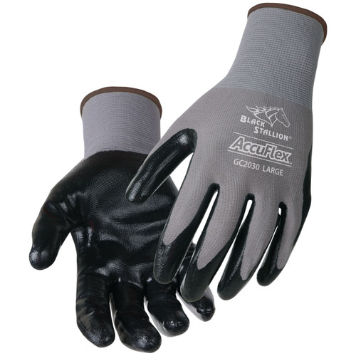 Black Stallion AccuFlex A1 Cut Resistant Nitrile-Coated Nylon Gloves - GC2030-GY