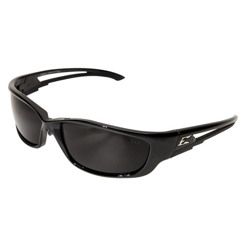 Edge Kazbek XL Safety Glasses with Black Frame - Smoke Lens