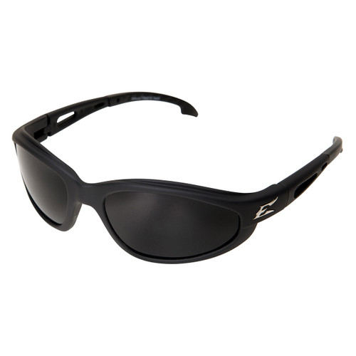 Edge Dakura Safety Glasses with Black Frame - Polarized Smoke Lens