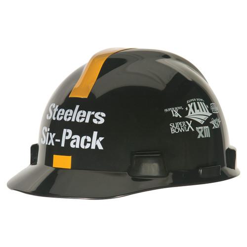 MSA V-Gard Steelers Six Pack NFL Hard Hat