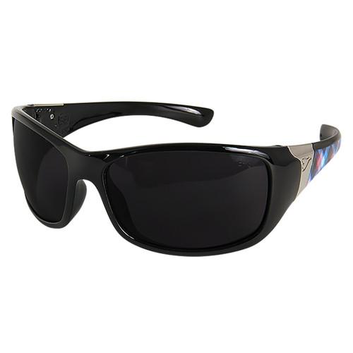 Edge Women's Civetta Aurora Black Plaid Series Safety Glasses - Smoke Lens