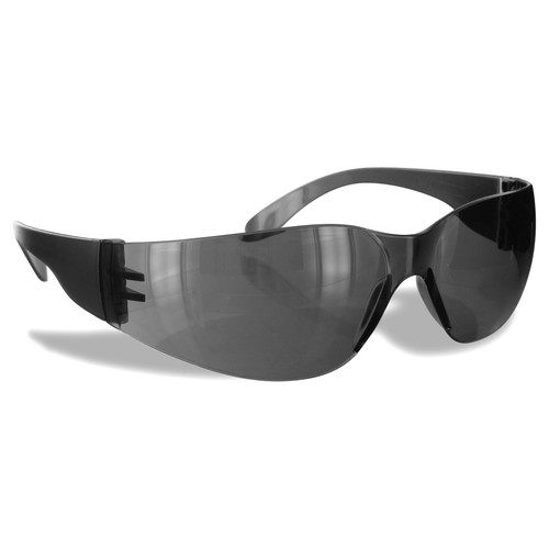 Rugged Blue Safety Glasses for Small Faces  Gray Lens Case of 12