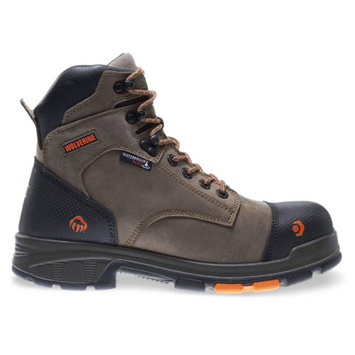 """Wolverine Men's Brown Blade LX 6"""" WP Carbonmax Safety Toe Boots - W10653"""