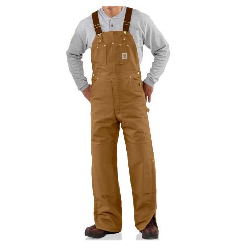 Carhartt Men's Duck Bib Quilt Lined Overall - R02