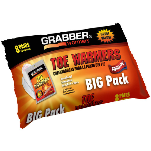 Grabber Toe Warmers with Adhesive - 8 Pair/Pack