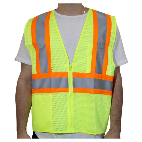 Rugged Blue Class 2 High-Vis Two-Tone Mesh Safety Vest