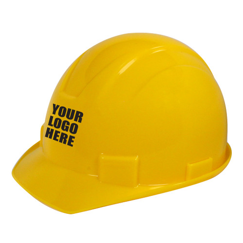 Custom Rugged Blue Defender 4-Point Ratchet Hard Hat