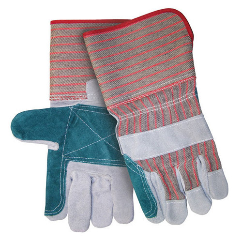 MCR Safety 1212 Double Leather Palm Work Gloves - Single Pair