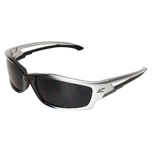 Edge Kazbek Safety Glasses with Black Frame - Smoke Lens