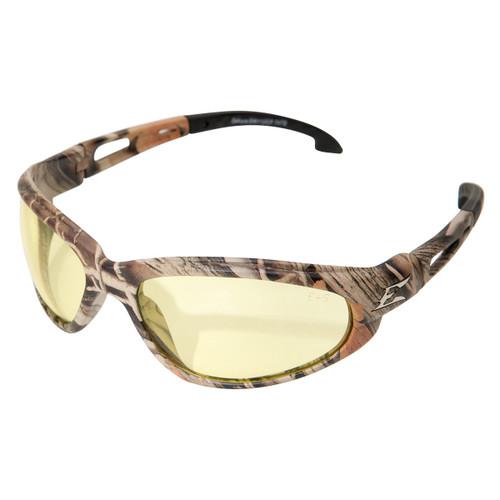 Edge Dakura Safety Glasses with Camo Frame - Yellow Lens