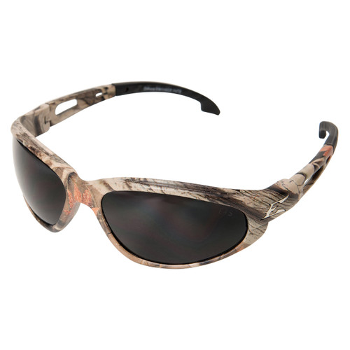 Edge Dakura Safety Glasses Camo Frame - Polarized Smoke Lens
