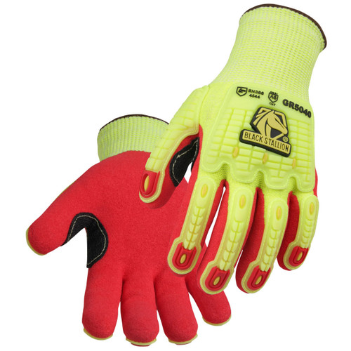 Black Stallion AccuFlex A6 Cut & Impact Resistant Nitrile Coated Knit Gloves - GR5040