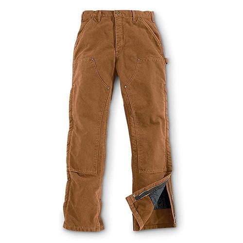 Carhartt Men's Sandstone Waist Overall Quilt Lined Pants - B194