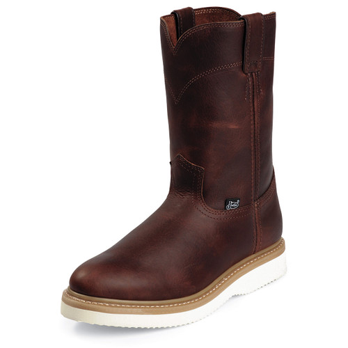 """Justin Boots 10"""" Axe Tan Soft Toe Work Boots - WK4908"""