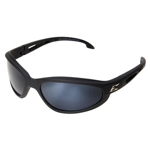Edge Dakura Safety Glasses with Black Frame - Polarized Silver Mirror Lens