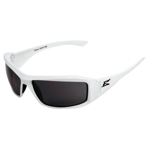 Edge Brazeau White Series Safety Glasses - Smoke Lens