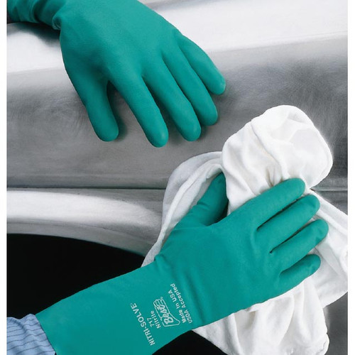 Best Nitri-Solve Chemical Resistant Flock-Lined Nitrile Gloves - Sizes M, L, XL, 2XL
