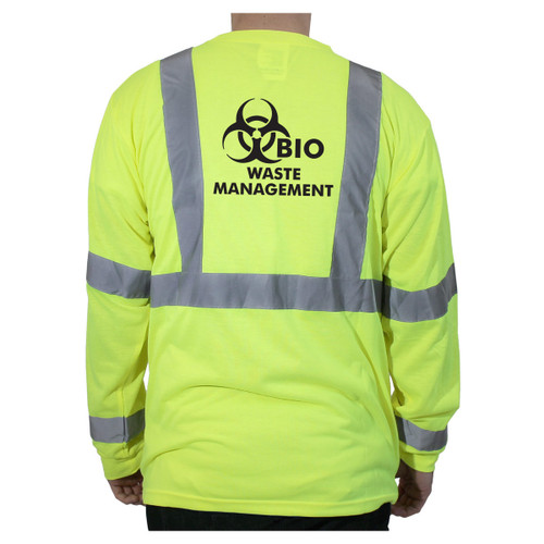 Customized Rugged Blue Class 3 Long Sleeve High-Vis Wicking Shirt