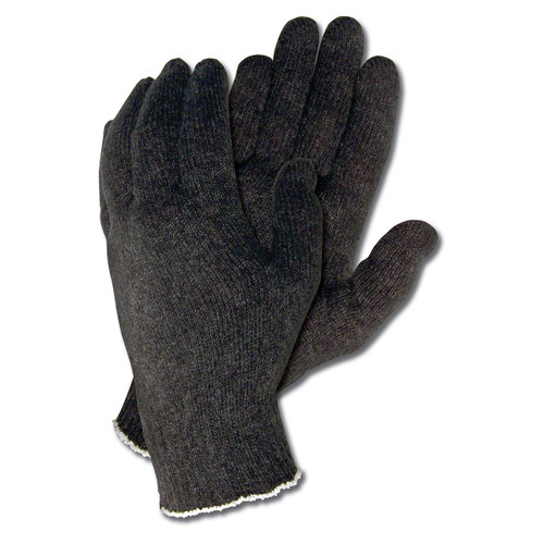 Memphis Black Cotton Poly String Knit Gloves - Pack of 12 Pairs