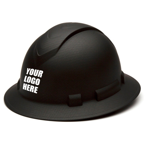 Custom Pyramex Ridgeline Graphite Full Brim Vented 4-Point Ratchet Hard Hat - HP54117V