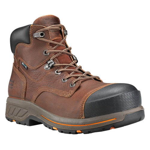 "Timberland PRO Men's 6"" Mahogany Helix HD Composite Toe WP Work Boots - A1I4H214"