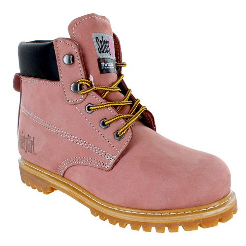 Safety Girl II Insulated Work Boot - Light Pink