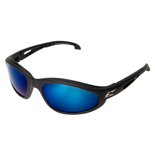 Edge Dakura Safety Glasses with Black Frame - Polarized Blue Lens