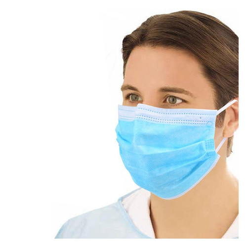 Surgical Face Mask With Elastic Ear Loops - Pack of 50