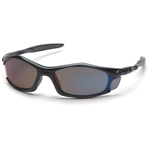 Pyramex Solara Safety Glasses w/ Blue Mirror Lens