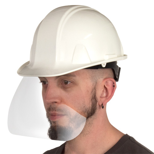 Disposable Hard Hat Face Shield: Available in 10 and 50 Pack