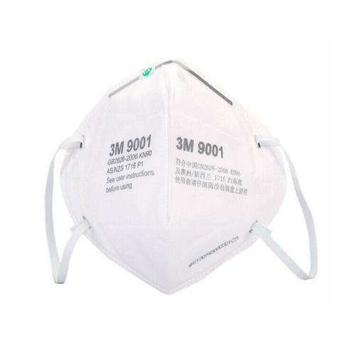 50 Pack 3M KN90 Protective Face Mask 9001 - With Elastic Ear Loops