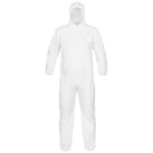 Case of 25 Disposable Hooded Microporous Breathable Coverall: MPCOV-300 in M, L, XL, 2XL