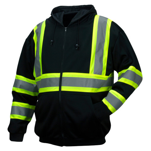 Pyramex Enhanced Visibility Class 1 Black Zip Sweatshirt - RSZH34
