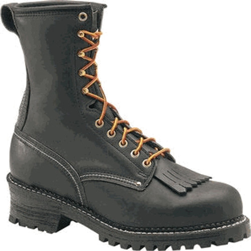 Carolina 9in Plain Toe Logger Boots - Black - 922 - 12D - Clearance